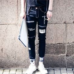 Simsam - Lettering Slim Fit Jeans
