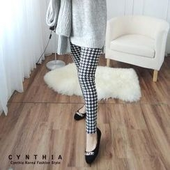 CYNTHIA - Brushed-Fleece Patterned Leggings