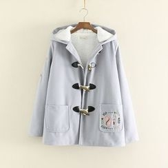 Mushi - Hooded Embroidered Coat
