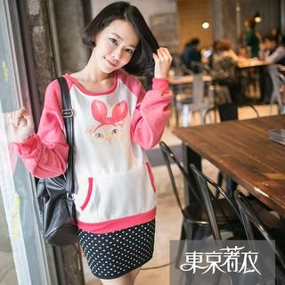 Tokyo Fashion - Raglan Cat-Print Pullover