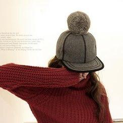 NIPONJJUYA - 球球裝飾插色帽