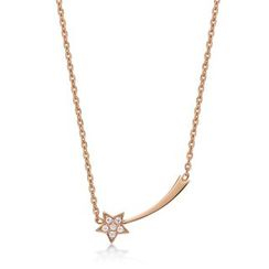 Kenny & co. - 14K Rose Gold Plated  Steel Necklace with Metero Crystal Pendant