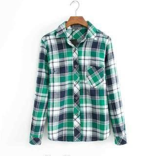 JVL - Long-Sleeve Plaid Shirt