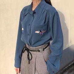 Cloud Nine - 刺绣雪纺衬衫