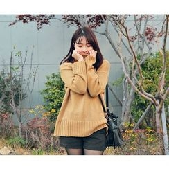 HOTPING - Turtle-Neck Knit Top