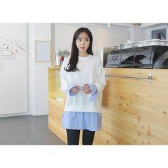 Envy Look - Layered-Shirt Sweatshirt
