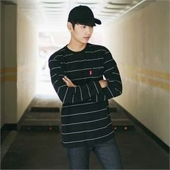 MITOSHOP - Pocket-Front Striped T-Shirt
