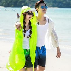 Bay Go Mall - Couple Matching Lettering Light Jacket