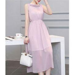 Dowisi - Sleeveless Round Neck Dress