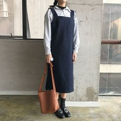 Dute - Square Neckline Pinafore Dress