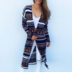 Rebecca - Patterned Long Cardigan