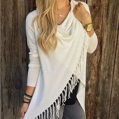 Flobo - Long-Sleeve Fringed Top