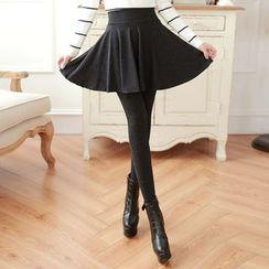 nooyi - Inset Skirt Tights