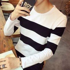 Alvicio - Striped Long-Sleeve T-Shirt