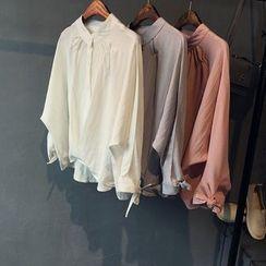 Glovon - Linen-blend Blouse