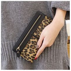 Rinka Doll - Leopard Print Zip Long Wallet