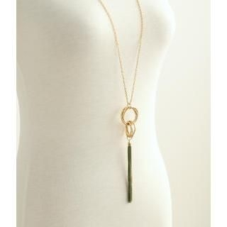 Petit et Belle - Multi-Hoop Tassel Long Necklace