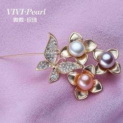 ViVi Pearl - 淡水珍珠胸针