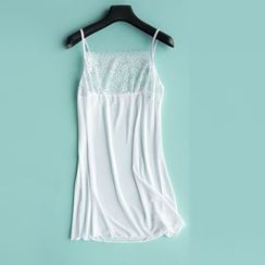 LA SHOP - 蕾絲邊吊帶裙