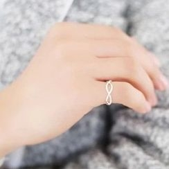 Blinglitz - 925 Sterling Silver Twisted Ring
