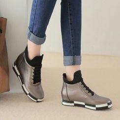 傾城 - 撞色短靴