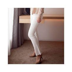 MASoeur - Fray-Hem Boot-Cut Pants