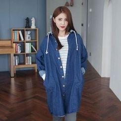 Envy Look - Detachable Hood Denim Jacket