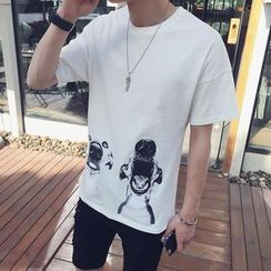 SICRIT - Short-Sleeve Print T-Shirt
