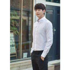 GERIO - Long-Sleeve Plaid Shirt
