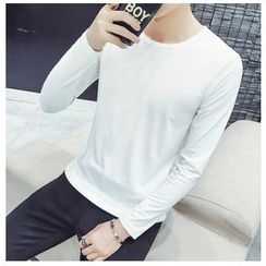 風森 - 長袖純色T恤