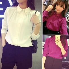 QZ Lady - Embellished Collar Chiffon Shirt