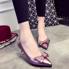 Wello - Bow Pointed Pumps