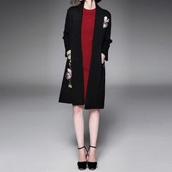 Alaroo - Floral Embroidered Long Cardigan