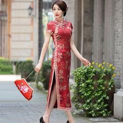 Miss Four Qipao - 碎花长旗袍