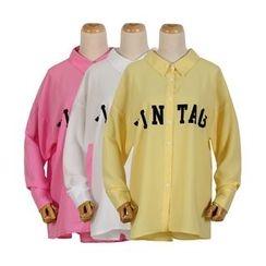 Momewear - Long-Sleeve Chiffon Shirt