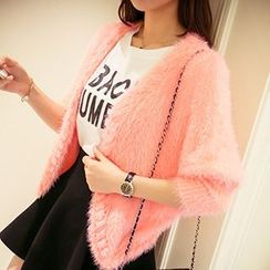 Cotton Candy - Furry Knit Jacket