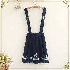 Fairyland - Embroidered Suspender Skirt
