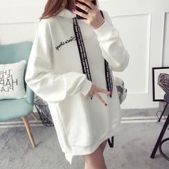 Qimi - Letter Embroidered Hoodie
