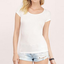 Rebecca - Lace Panel Short-Sleeve Top