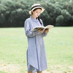 Onyu - 條紋襯衫連衣裙