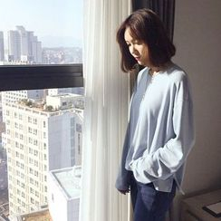 WITH IPUN - Round-Neck Drop-Shoulder T-Shirt