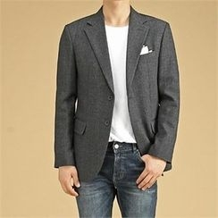 THE COVER - Flap-Pocket Mélange Blazer