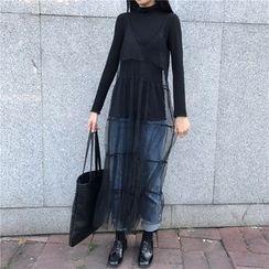 Alfie - 镂空透视网纱吊带连衣裙