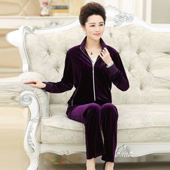 Romantica - Sport Set: Velvet Zip Jacket + Sweatpants