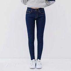 icecream12 - Stitched Skinny Jeans