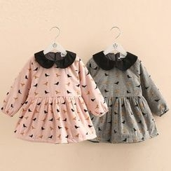 Seashells Kids - Kids Bird Print Collared Long Sleeve Dress