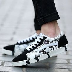 MARTUCCI - Lace-Up Panel Sneakers