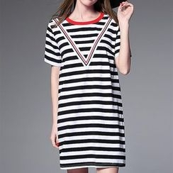 Mythmax - Striped T-Shirt Dress