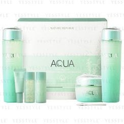 Nature Republic - Aqua Super Aqua Max Combination Watery Skin Care Special Set (6 items): Toner + Emulsion + Cream + Essence