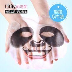 Litfly麗塔芙 - DIY 鎖水面膜紙 熊貓 (5片)